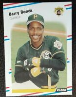 1988 Fleer BARRY BONDS Pittsburgh Pirates #322 Baseball Card