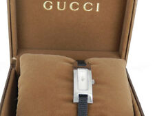 GUCCI Uhr 3900L Damenuhr Stahl / Stoff-Leder OVP wie neu! UVP ca. 635€