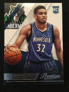 🔥 KARL-ANTHONY TOWNS - 2015-16 PANINI PRESTIGE ROOKIE CARD #207 💎INVEST💎