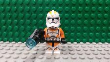 Lego Minifigura Star Wars 212th Clone Trooper Naranja Gral 75036 75013