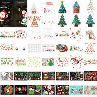 Christmas Santa Claus Decal Show Window Glass Wall Stickers Art Xmas Decor AU