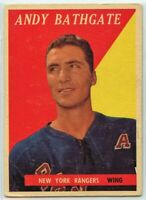 1958-59 Topps Hockey #21 Andy Bathgate HOF VG-EX Condition (2020-13)