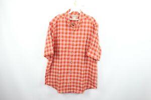 New Duluth Trading Co Mens Large Gusseted Short Sleeve Shirt Hemp Organic Cotton