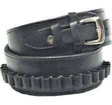 Leather Holster Belt Black Cartridge Loop Holster Belt Made in Mexico 70207