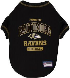 New NFL Baltimore Ravens For Small Or Medium Dogs Black Pet T-Shirt Size L