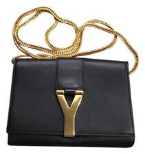 Authentic Yves Saint Laurent Mini Y Ligne Mini Bag Pochette YSL Black Crossbody