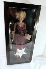 MARILYN MONROE FRANKLIN MINT LIMITED EDITION ENTERTAINING THE TROOPS PURPLE 15""