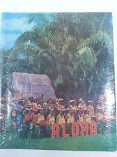 Vtg 80's ALOHA Hawaii Hula Palm Theme Magic Magnetic Photo Album NEW NOS