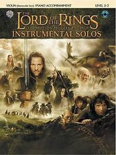 The Lord of the Rings Instrumental Solos for Strings: Violin with Piano Acc.,