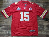 Patrick Mahomes #15 Kansas City Chiefs Super Bowl Jersey Large