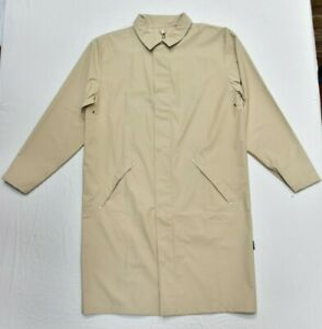 New RAINS Mac Macintosh Jacket Coat Waterproof in Stone Beige Size M/L