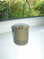 Denby Chevron Green Mustard Pot Stoneware British