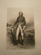Gravure 19°  Portrait  personnage révolution : Joubert