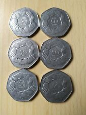 1973 Large Style 50p Coin, UK ENTRY TO EEC, Hands of Unity, Fifty Pence,