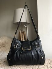 Modalu London black genuine leather medium handbag hobo shoulder bag