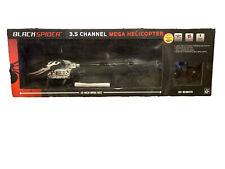 Black Spider 3.5 Channel Mega Helicopter. Ages 12+
