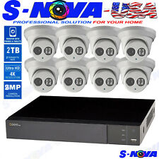 Q-See Kit 4K Dvr 8Ch 8 Cameras Full-Hd 1080P System 2Tb Hard Disk Purple