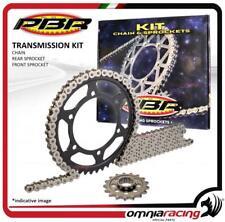 Kit trasmissione catena corona pignone PBR EK Kawasaki KX125 2000>2002