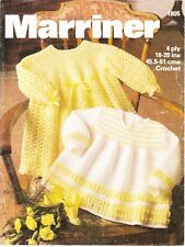 Baby Crochet Pattern DRESS & Angel Top Copy Crocheted in 4 Ply