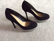 LADIES WEDGE BLACK SHOES 6 1/2 ASOS