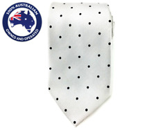 Men's Neck Tie Grey with Black Polka Dots 8.5CM Necktie Wedding Groomsmen Ties