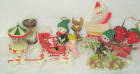 Mixed Lot of  Vintage Christmas Ornaments Figures