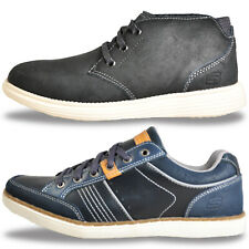 SKECHERS Mens MEMORY FOAM LEATHER Fashion Boots Shoes Trainers £34.99