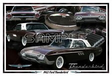 1963 Ford Thunderbird Poster Print