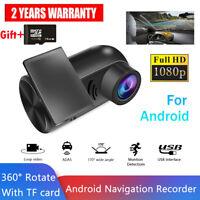 1080P Car DVR Camera 170° Night Vision Dash Cam USB G-sensor Recorder + SD Card