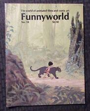 1978 FUNNYWORLD Animation Comic Art Magazine #18 FN 6.0 Jungle Book
