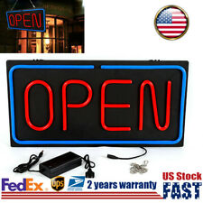 "Led Neon Open Sign Wall & Window Hanging Business Light Decor Bar 24""*12"" Us"