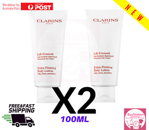 New Clarins Extra Firming Body Lotion 100ml x 2 = 200ML TOTAL * BRAND NEW *