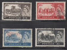 Great Britain # 371-74 Used Complete 1959 Castle Issue Wm 322 Cv $14