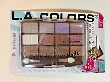 L.A. Colors Eyeshadow Brown - 12 Color Palette - Glamorous-Nude Color Eye Makeup