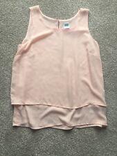 Vero Moda Peach Pink Tiered Vest Top