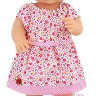 Puppen Kleidung Kleid Sommerkleid rosa für 40 bis 45 cm Puppen, Nr. 189b