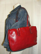 TOSCANINO Purse Burnt Red Tuscany Leather Briefcase Shoulder Bag Document Case