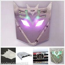 Transformers Decepticon Badge Car Solar Power LED Flash Strobe Light For Lincoln