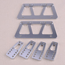 Crawler Car Refit Alloy Chassis Lift Plate Set Kit Fit for 1/10 RC Axial SCX10