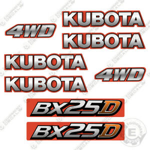 Kubota BX 25 D Decal Kit Backhoe Tractor Decals (BX25D) - 7 YEAR VINYL!