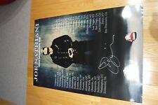 JOE SATRIANI TOURUS SATCHAFUNKILUS TOUR POSTER SIGNED 2008.