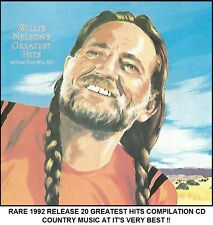 Willie Nelson - Very Best 20 Greatest Hits Collection RARE 1992 Country Music CD