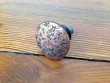 Vintage Round Solid Metal Antique Copper Textured Knob Drawer Cabinet Pull 3cm