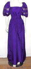 William Pearson vintage puff sleeve gown purple  14  worn