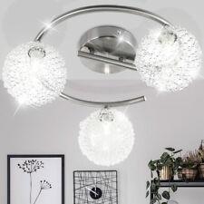 Luxus Decken Leuchte Rondell Wohnraum ALU Geflecht Dielen Strahler Living-XXL