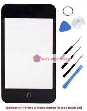 Glass Screen Digitizer with Frame home button for IPOD touch 2nd 2g 2 A1288 part