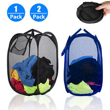 Extra Large Laundry Bag Basket Mesh Hamper Foldable Wash Clothes Storage Bin Usa