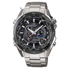 Casio EQS500DB-1A1, Edifice Watch, Solar Powered, World Time, Chronograph, Alarm