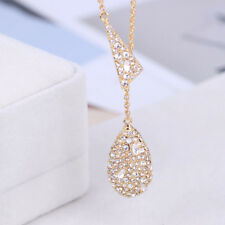 Alexis Bittar Gold Tone Crystal Pave Teardrop Pendant Y Shpae Necklace