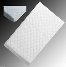 Crib Mattress Nursery Baby Breathable Quilted Cover Cradle Pram 72 x 39 x 4 CM